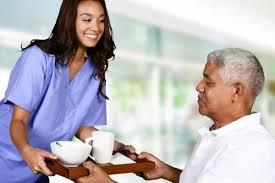 Elder care senior gentleman