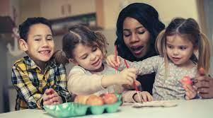 Nanny and three children